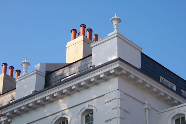 Hereford Square Roof Vase Moulding