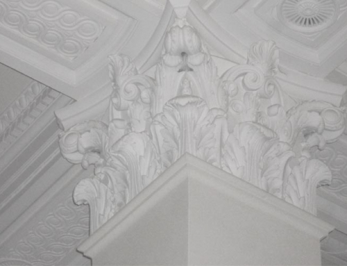Replication of Corinthian Capital column in Central London