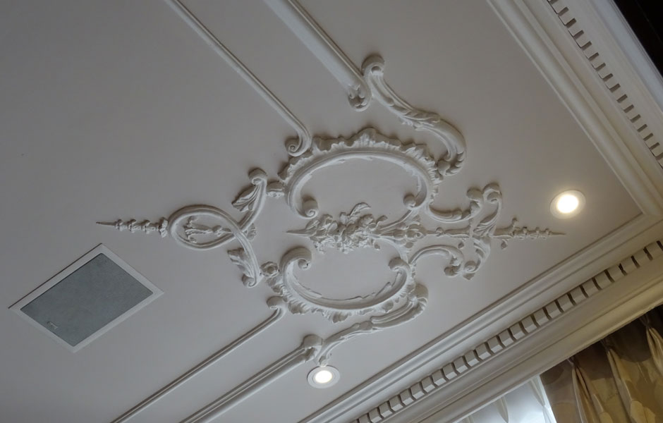 Albert Court Mansions Ceiling Corner Section