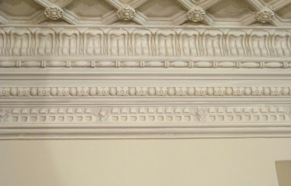 Ornate Cornice Framing the Besopoke Ceiling