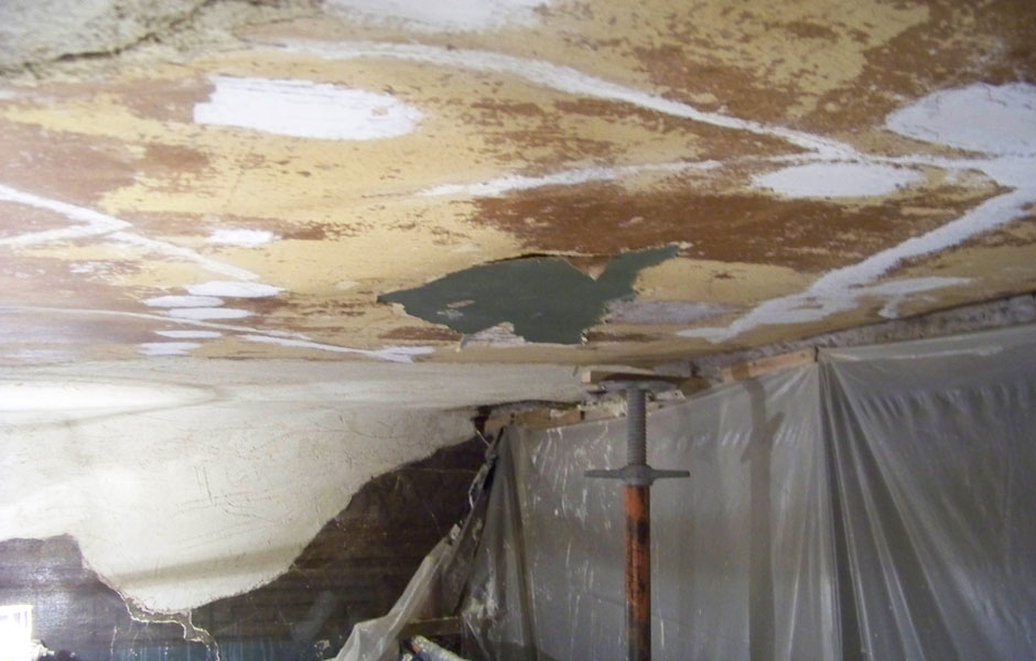 Dean Street Mural Newly Applied Lime Plaster