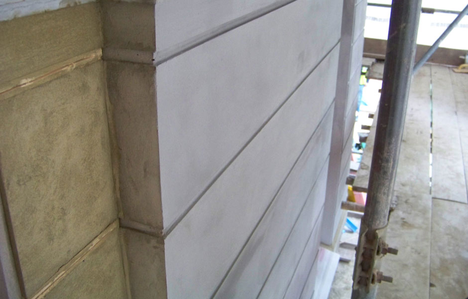 Phillimore Gardens Ashlar mouldings being created