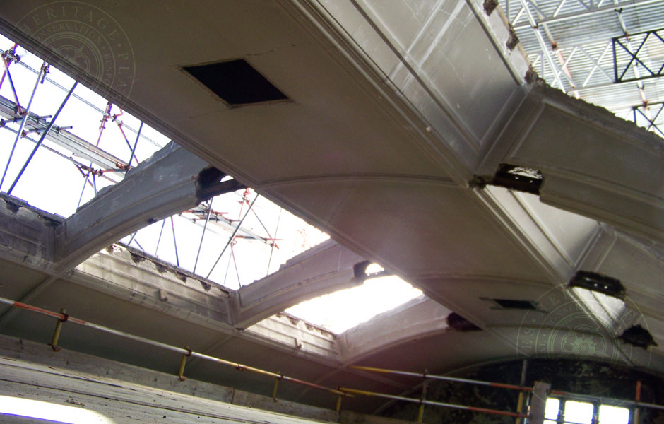 Plumstead Library Damaged Arches to 12 Number Vaults
