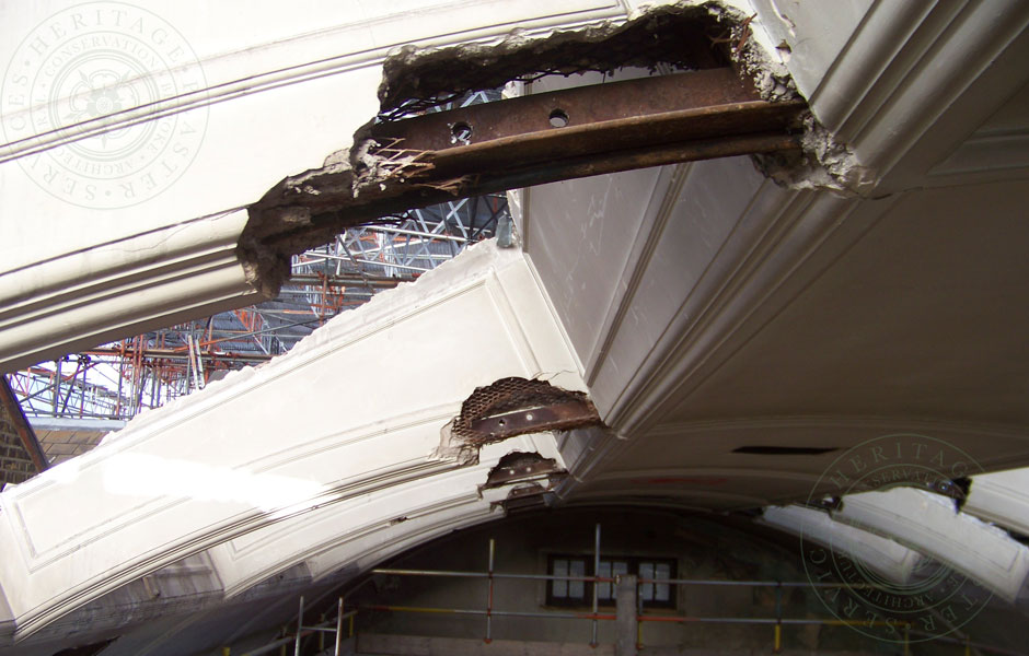 Plumstead Library Damaged Arches